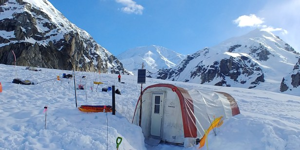 Camp Manager's Tent at Base Camp with Denali in Background