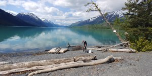 Kenai Lake near Moose Pass. Great Walkway Gravel.