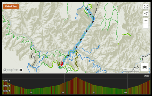 Grand Canyon R2R2R Track, Courtesy of Trail Run Project