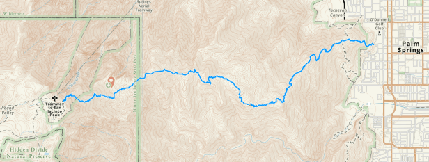 Skyline Trail via Gaia GPS