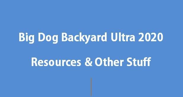Big Dog Backyard Ultra 2020