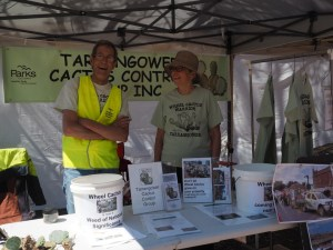 Ian Grenda and Sue Davidson at the TCCG Maldon and Baringhup Show stall