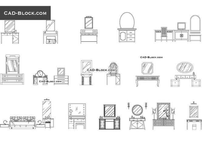 Dressing Tables Free Cad File