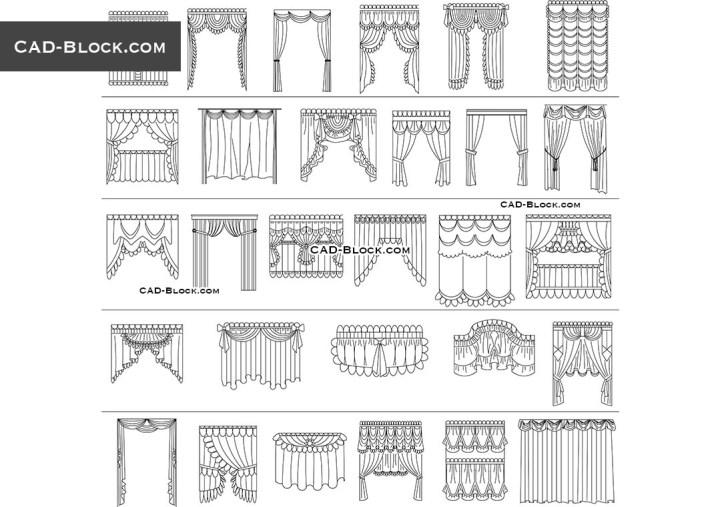 Curtains Cad Blocks Free