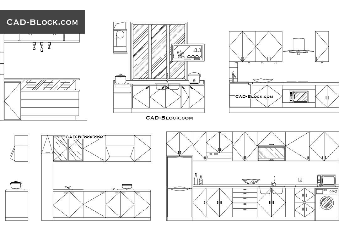 Kitchen Of The Restaurant Dwg Free Cad Blocks Download