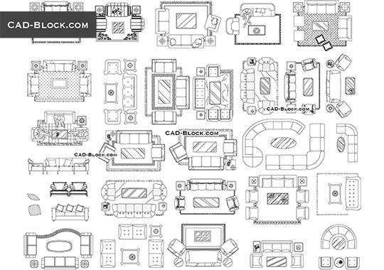 Sofa Cad Block Plan