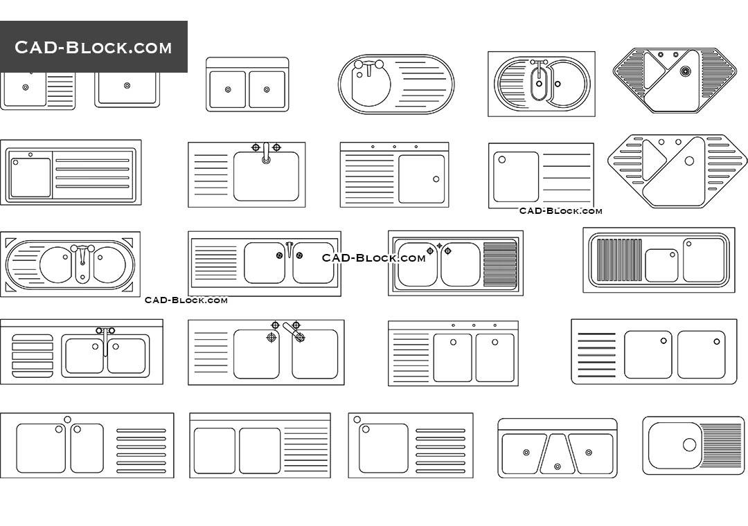 kitchen sink cad blocks free download