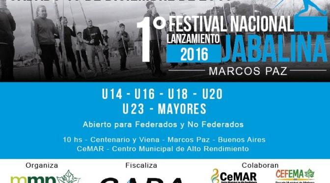 1° Festival de Lanzamiento de la Jabalina