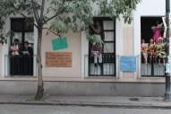 Los Personajes de Héctor Azar en la fachada de CADAC en Sábados al Azar. (2012)