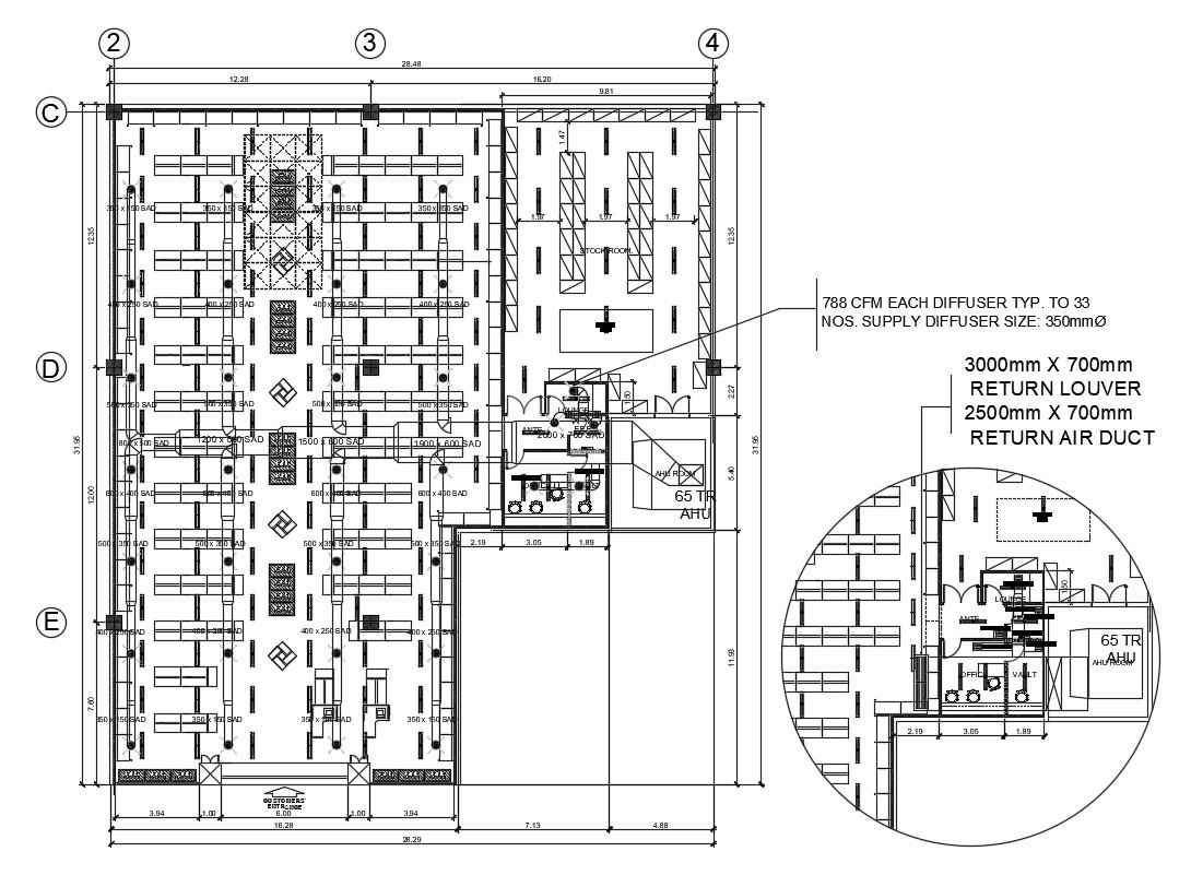 Industrial Factory Floor Plan Download Cad Drawing