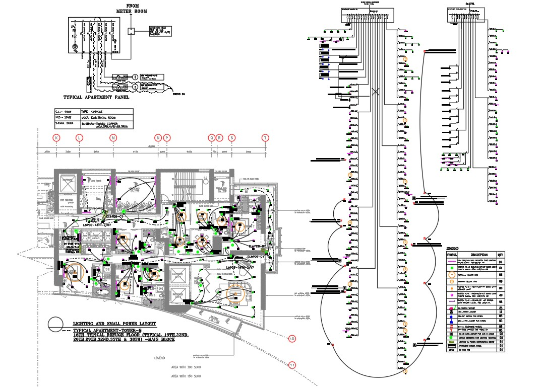 Typical Apartment Electrical Layout Plan And Power Panel