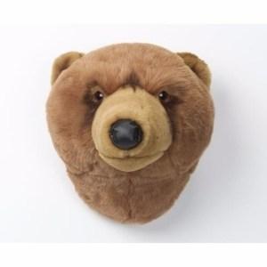 Grizzly berenkop voor aan de muur