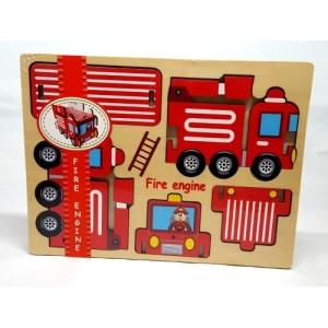 Houten puzzel Brandweerwagen