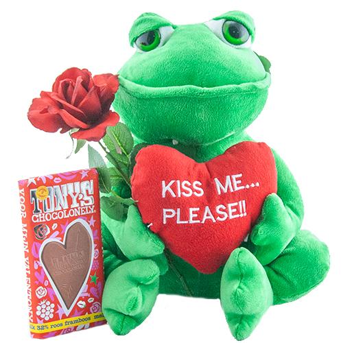 "Kikker ""Kiss me please"" Tony's Chocolonely"