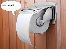 Sprekende toiletrolhouder