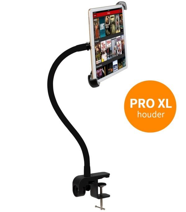 TABLET HOUDER MET KLEM voor PRO-XL iPad en tablets 9 t/m 14 inch