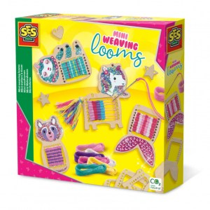 SES Creative mini-weeframen junior hout 12-delig