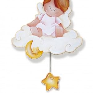 Dekori muziekdoos engel meisjes 25 x 36 cm hout
