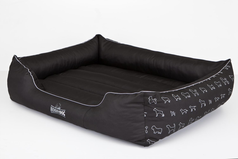 Hondenmand Elza zwart 110x90cm