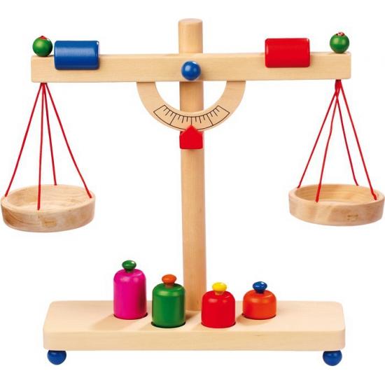 Houten balans weegschaal voor kinderen