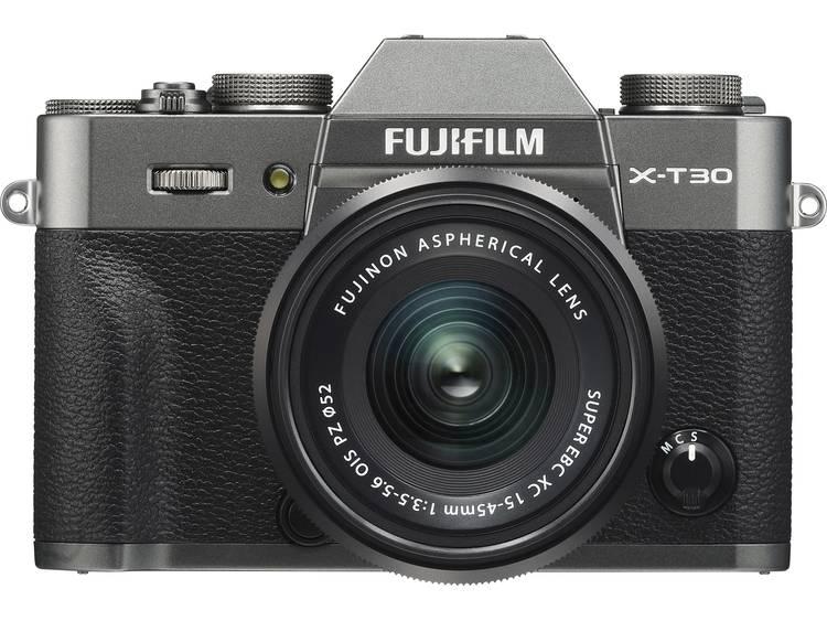 Systeemcamera Fujifilm X-T30 XC 15-45 mm 26.1 Mpix Antraciet Touch-screen, Elektronische zoeker, Klapbaar display, WiFi, Flitsschoen, Bluetooth