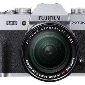 Systeemcamera Fujifilm X-T20 Incl. XF 18-55 mm 24.3 Mpix Zwart-zilver 4K Video, Full-HD video-opname, Elektronische zoeker, WiFi