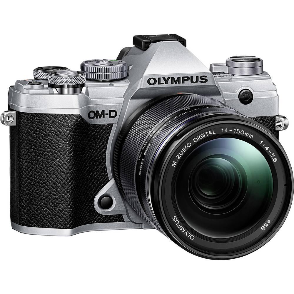 Systeemcamera Olympus E-M5 Mark III 14-150 Kit Incl. M 14-150 mm 20.4 Mpix Zilver, Zwart 4K Video, Vorstbestendig, Spatwaterdicht, Stofdicht