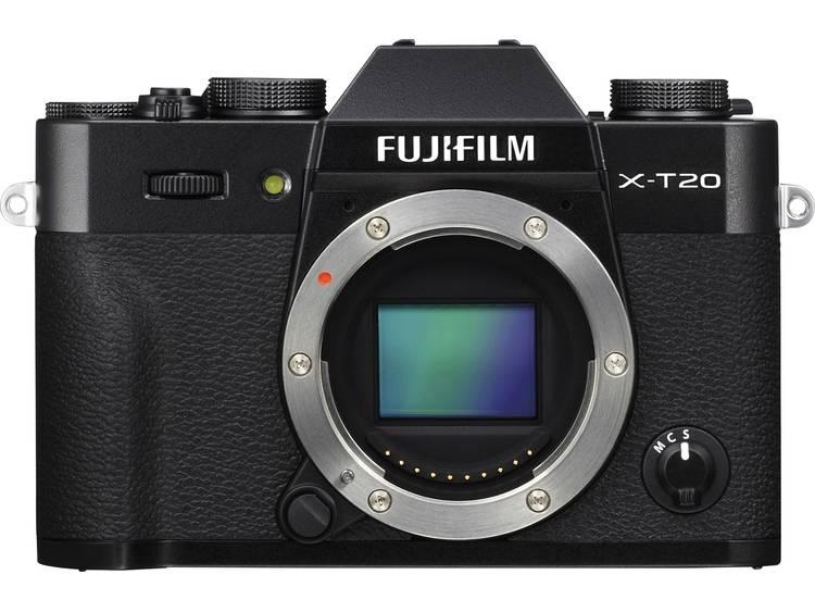 Systeemcamera Fujifilm XT-20 24.3 Mpix Zwart 4K Video, Full-HD video-opname, Elektronische zoeker, WiFi