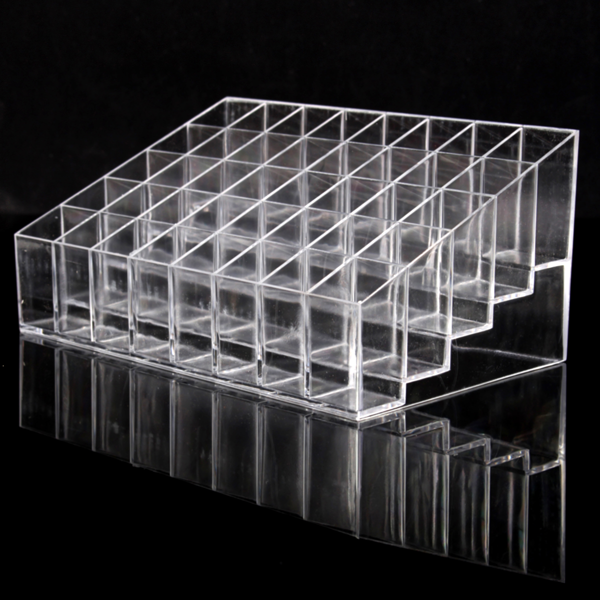 Clear Acrylic 40 Grids Lipstick Holder Stand Display Cosmetic Makeup Organizer Case