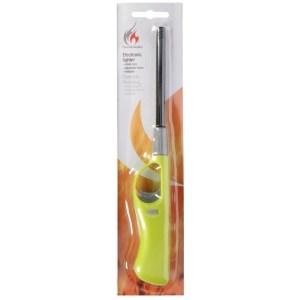Lime groene barbecue aansteker/gasaansteker navulbaar 26 cm