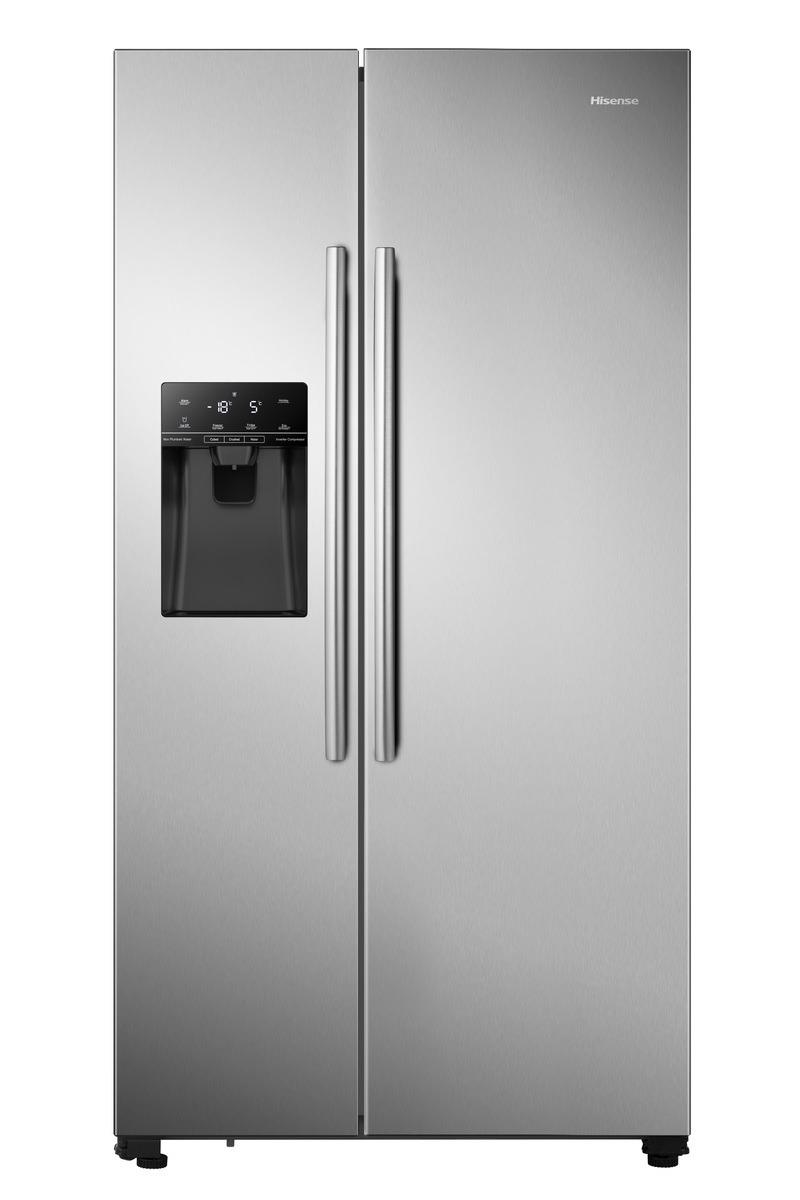 Hisense RS694N4IIF Amerikaanse koelkast Aluminium