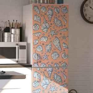 Koelkast stickers Zeeschelp schetst koelkast