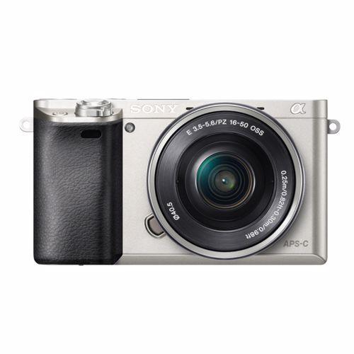 Sony systeemcamera A6000 + 16-50mm lens (Zilver)