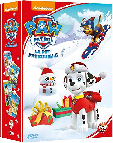 paw patrol la pat 39 patrouille le coffret 4 dvd une nouvelle amie bienvenue ruben tous. Black Bedroom Furniture Sets. Home Design Ideas