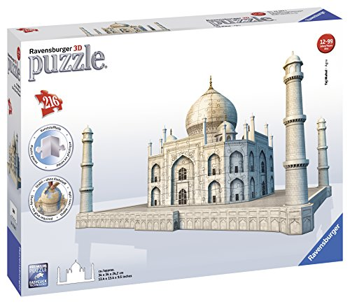 Ravensburger-12564-Puzzle-3D-Building-216-Pices-Taj-Mahal-0