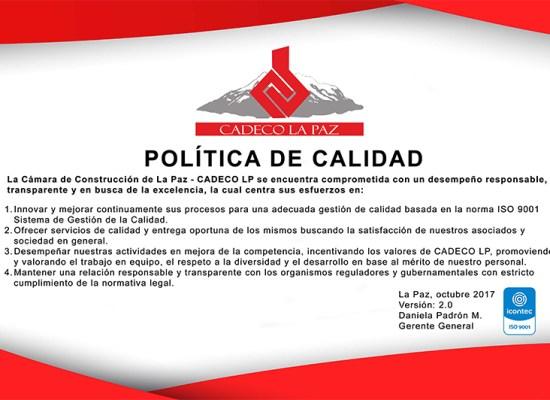 POLITICA DE CALIDAD WEB