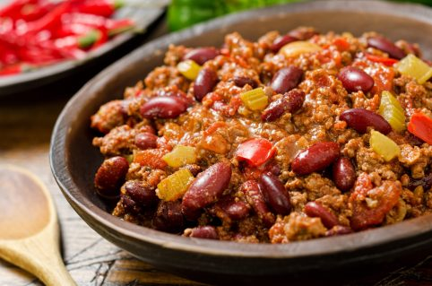 Beef chili, cheap and healthy mea