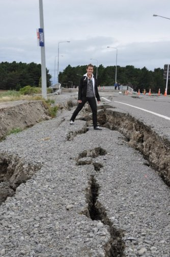 Cade Hildreth New Zealand Earthquake