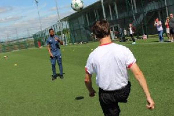 Chris-16-from-Ability-Counts-has-a-kick-about-with-Anthony-MartialJPG