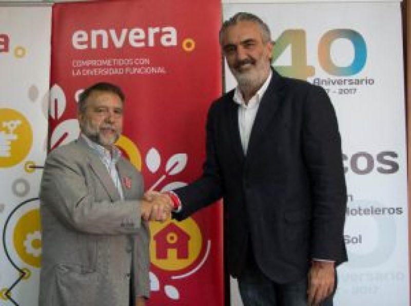 Aehcos y Envera alianza por la inserción personas con discapacidad