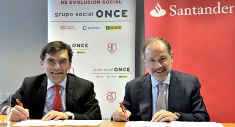 Banco Santander y Fundación ONCE Convenio para el empleo de personas con discapacidad