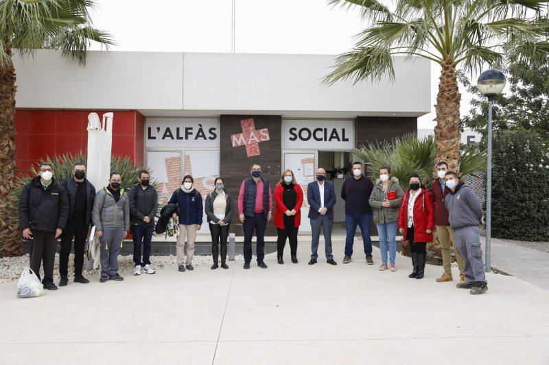Cuatro personas con discapacidad intelectual se incorporan a la plantilla del Ayuntamiento de l'Alfàs del Pi