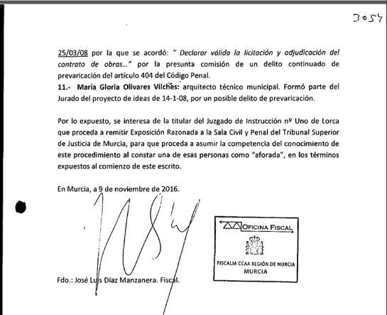 El Fiscal pide la imputación del presidente murciano por el caso 'Auditorio'