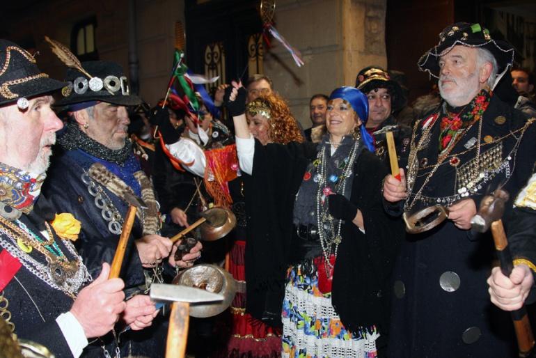 Imagen de la celebración de los caldereros en San Sebastián.