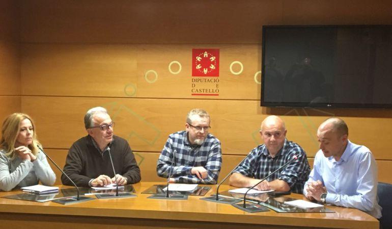 Miguel Alcalde (PSOE), Joan Bonet (Compromís) y Manolo Begués (Ara Benicàssim