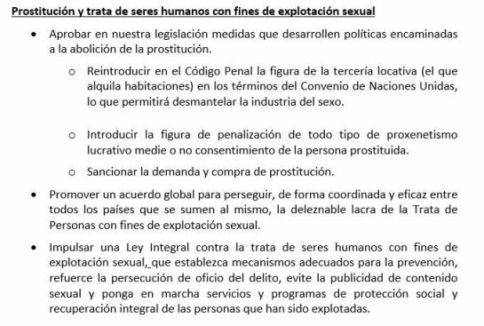 Borrador definitivo enviado a última hora por el PSOE