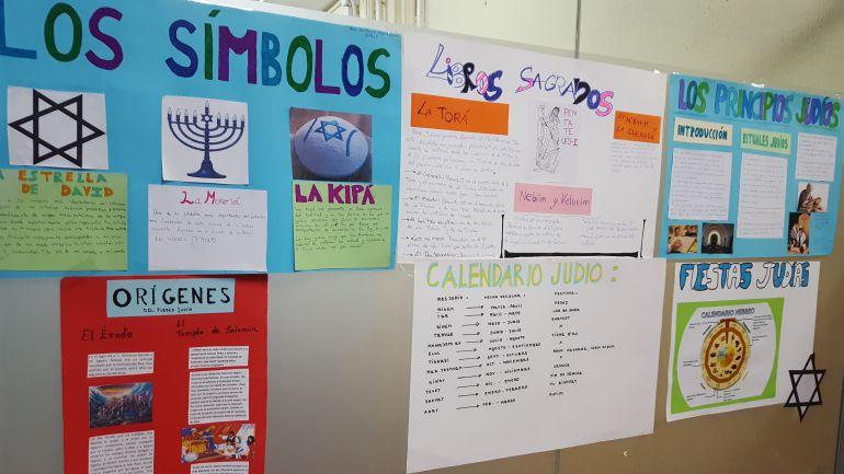los trabajos de los estudiantes de Bachillerato del IES La Estrella de Madrid, sobre el Holocausto.