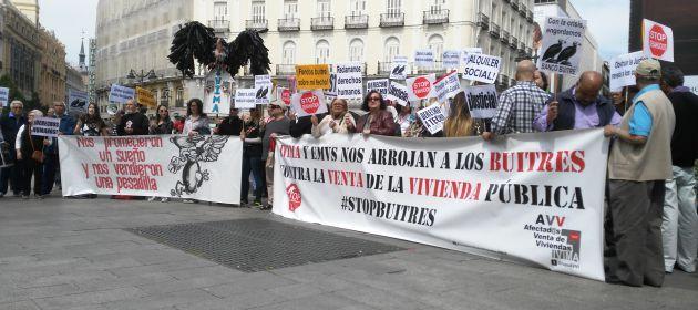 Protesta contra la venta de vivienda pública a fondos de inversión