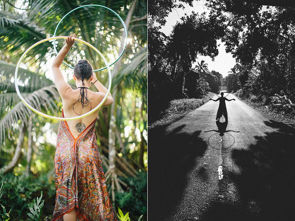 caterina suttin, a hoop dancer