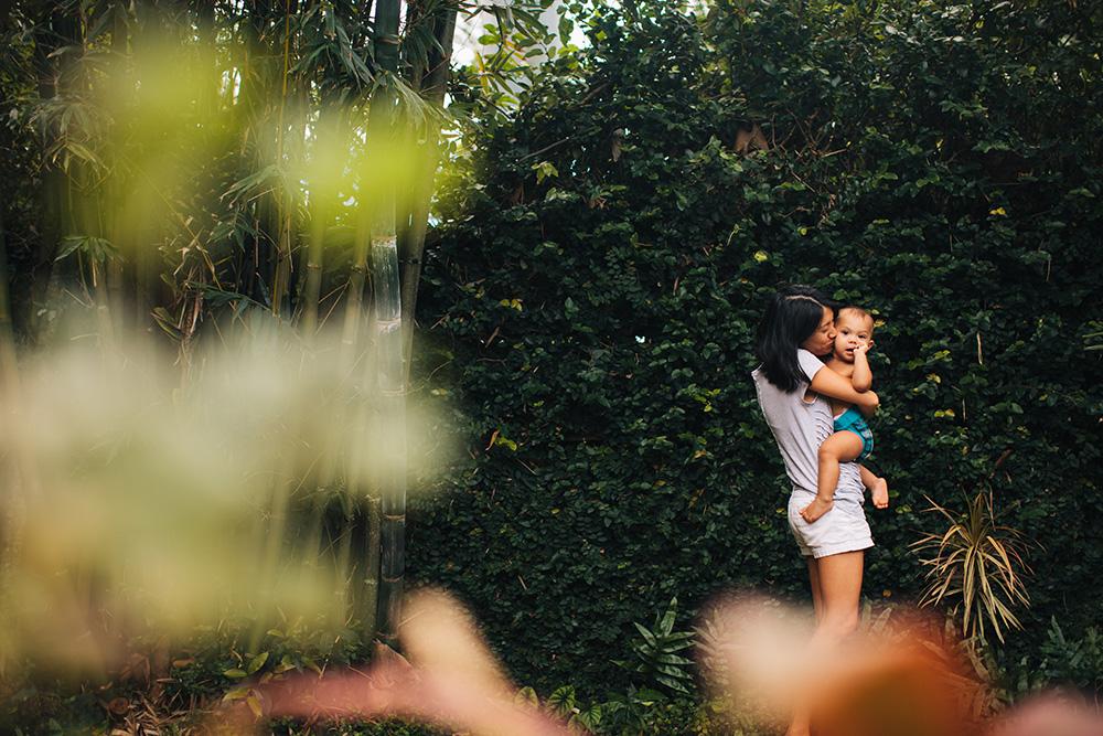 Maui mom Pia with son Liam.